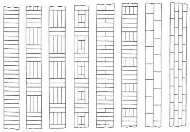 государственный стандарт союза сср изделия паркетные доски паркетные  гост  технические условия  862.3—86 floor parquet products. parquet boards. specificationsокп 53 6181  дата введения 01.07.86настоящий стандарт распространяется на паркетные доски, предназначенные для устройства полов в жилых зданиях. 1. основные параметры и размеры1.1. паркетная доска состоит из паркетных планок, которые наклеены с определенным рисунком на основание.на кромках и торцах должны быть пазы и гребни для соединения паркетных досок между собой. 1.2. в зависимости от конструкции основания паркетные доски подразделяют на типы: пд1 — с однослойным основанием из реек, набранных в квадраты или прямоугольники, расположенные взаимно перпендикулярно. по продольным кромкам основание обклеено рейками обвязки (черт. 1);пд2 — с однослойным основанием из реек, набранных в направлении продольной оси паркетной доски (черт. 2);пд3 — с двуслойным основанием из двух склеенных между собой слоев реек либо реек и шпона, уложенных во взаимно перпендикулярном направлении (черт. 3). в основании паркетных досок типов пд1 и пд2 должны быть пропилы.1.3. в зависимости от породы и пороков древесины планок лицевого покрытия паркетные доски подразделяют на марки а и б.1.4. номинальные размеры паркетных досок и предельные отклонения от них должны соответствовать указанным в табл. 1 и на черт. 1—3.1.5. паркетные планки наклеивают на основание паркетной доски в виде различных рисунков, варианты которых указаны на черт. 4.  таблица 1 s
